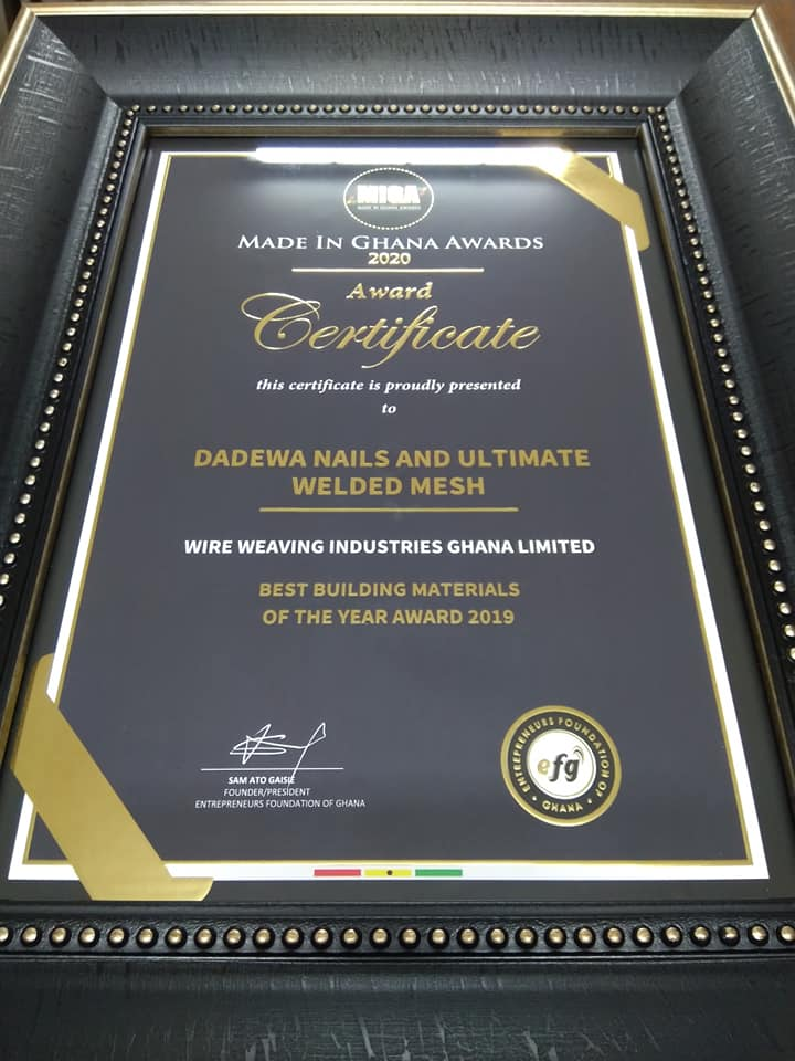 Wire Ghana Wins Best Building Material Award